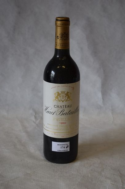 11 bouteilles CH. HAUT BATAILLEY, 5° cru...