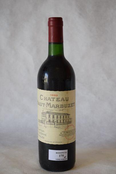 6 bouteilles CH. HAUT MARBUZET, Saint-Estèphe...