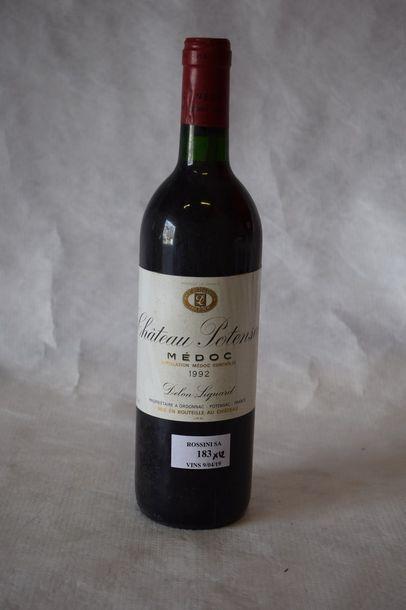 12 bouteilles CH. POTENSAC, Médoc 1992...