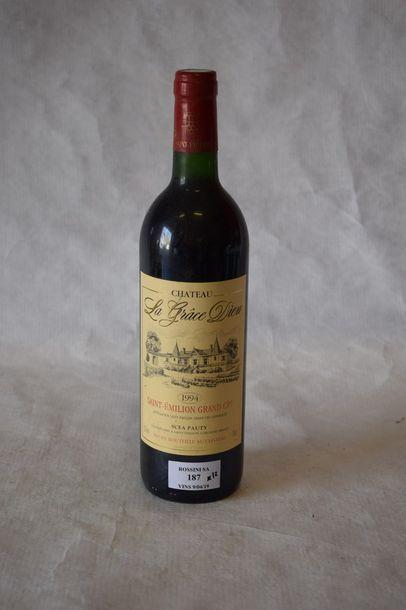 12 bouteilles CH. LA GRÂCE DIEU, St-Emilion...