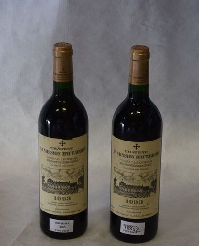 2 bouteilles CH. LA MISSION-HAUT-BRION,...