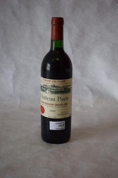 11 bouteilles CH. PAVIE, 1° Grand Cru...