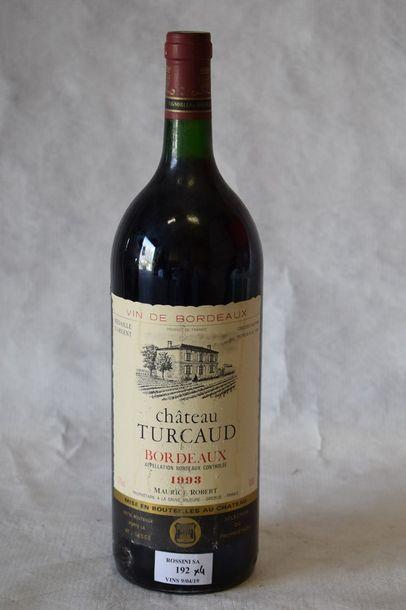 4 magnums CH. TURCAUD, Bordeaux 1993...