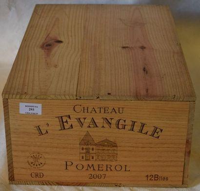 12 bouteilles CH. L'ÉVANGILE, Pomerol...