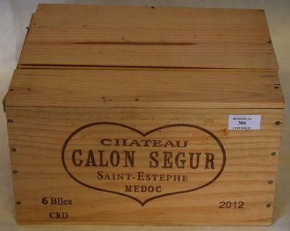 6 bouteilles CH. CALON-SÉGUR, 3° cru Saint-Estèphe...