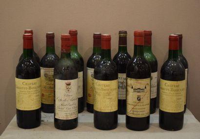 12 bouteillesBORDEAUXDIVERS