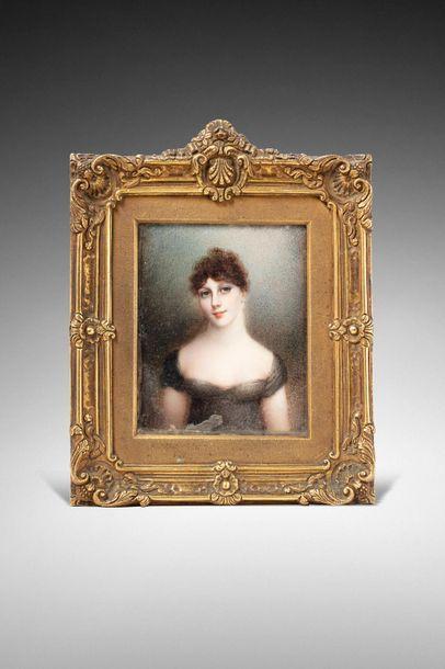 Ecole anglaise du XIXe siècle, entourage d'Anne Mee Foldsone (1770-1851)  Portrait...