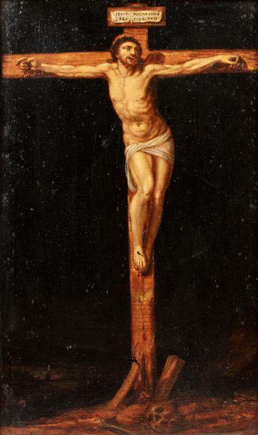 ECOLE FLAMANDE du XVIIe siècle    Le Christ...