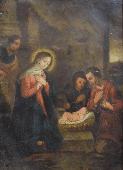 ECOLE FRANCAISE du XVIIème siècle    Adoration...