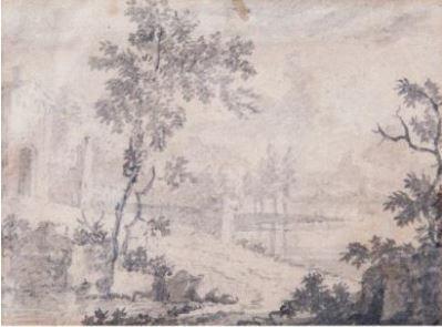 HUYSUM Jan van  (1682 - 1749)   1 - Paysage...