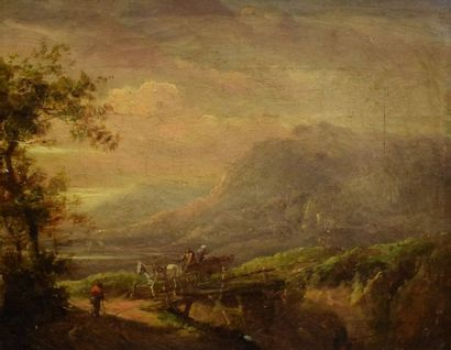 MILBOURNE Henry (1781-1826)  Paysage de montagne...
