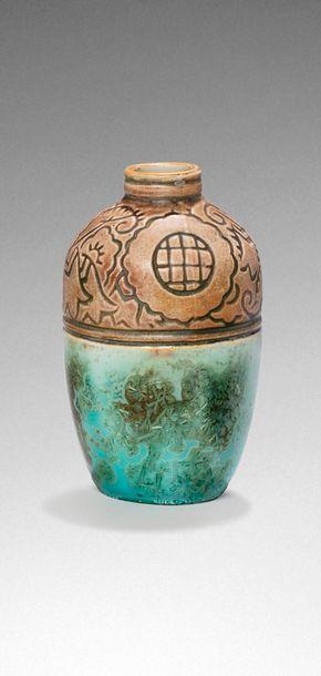 Georges CONDE & MOUGIN FRERES  Vase en grès...