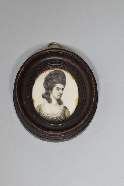Ecole anglaise, XIXe siècle  Portrait de...