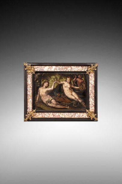ECOLE FLAMANDE vers 1600  Adam et Eve ou...