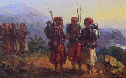 CHARPENTIER Eugène-Louis  1811-1890  Zouaves...