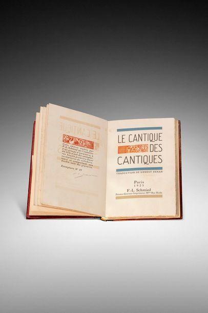 CANTIQUE DES CANTIQUES (Le). Traduction de Ernest Renan. Paris, F.-L. Schmied Peintre-Graveur-Imprimeur,...