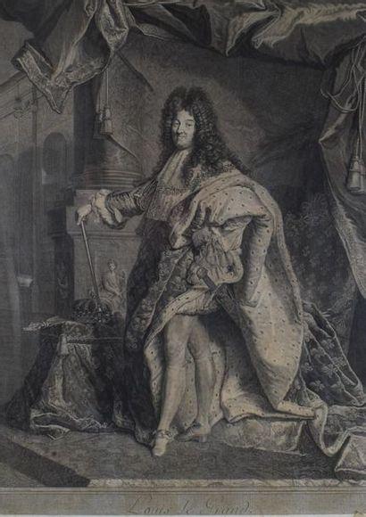Pierre DREVET (1663 - 1738)  Louis XIV.  Burin,...