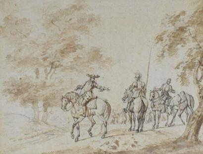 VERNET Horace (attribué à)  1789 - 1863  Officier...