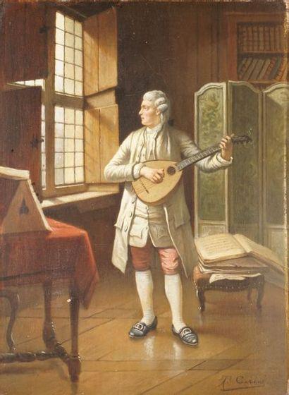 CERIEZ Théodore, 1832-1904  Le joueur de...