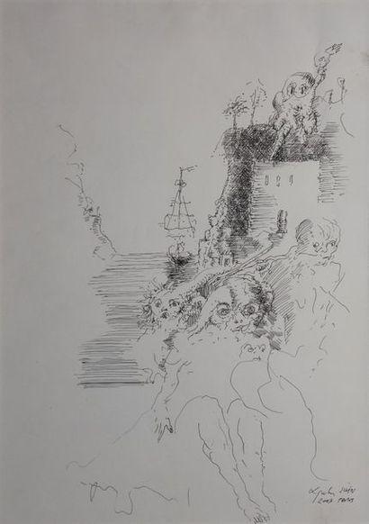 LJUBA, 1934-2016  Bord de mer, Paris juin...