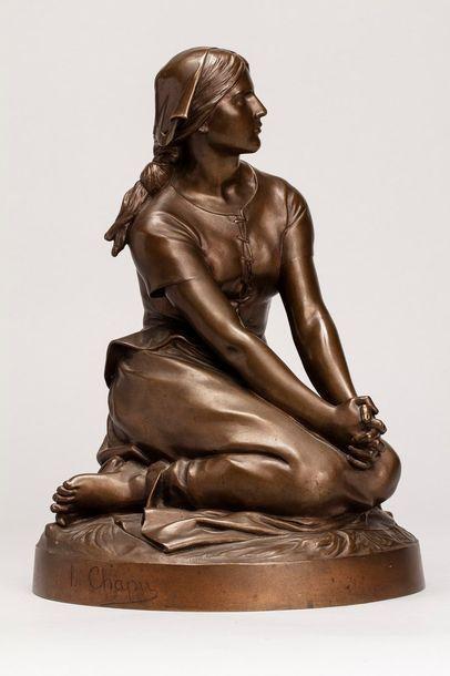CHAPU Henri, 1833-1891  Jeanne d'Arc  bronze...