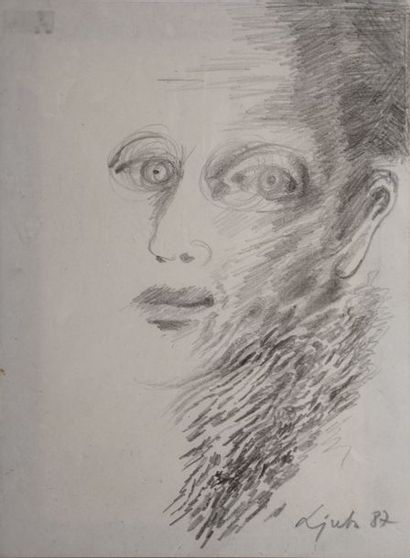 LJUBA, 1934-2016  Visage, 1987  dessin à...