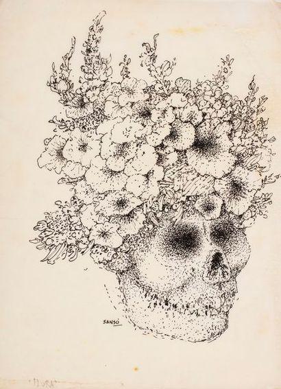 SANSO Juvenal, né en 1929  Flora  dessin...
