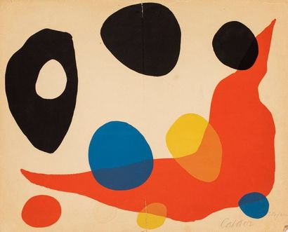 CALDER Alexander, 1898-1976  Boomerang rouge...