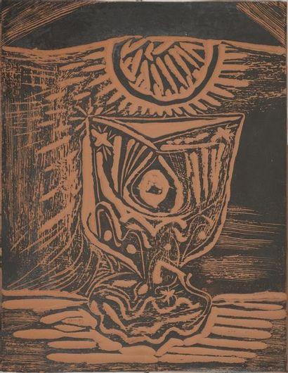 PICASSO Pablo, 1881-1973 Verre sous la lampe,...