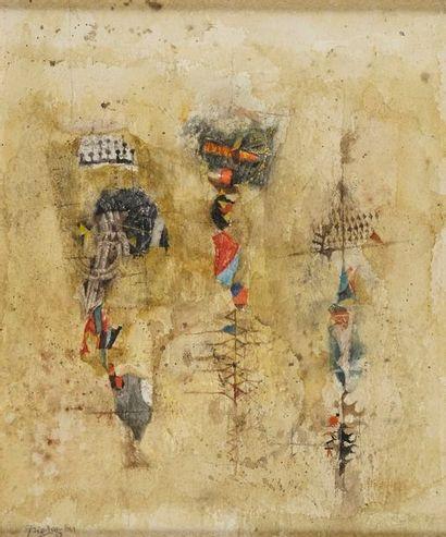 FRIEDLAENDER Johnny, 1912-1992 Totems aquarelle...