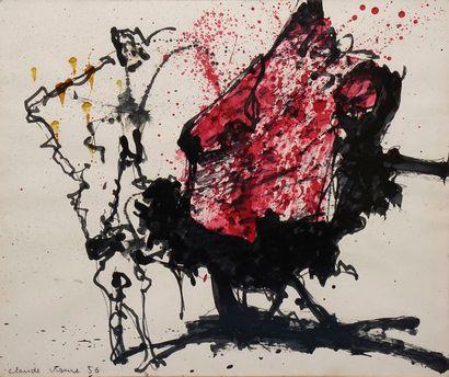 VISEUX Claude, 1927-2008  Sans titre, 1956...