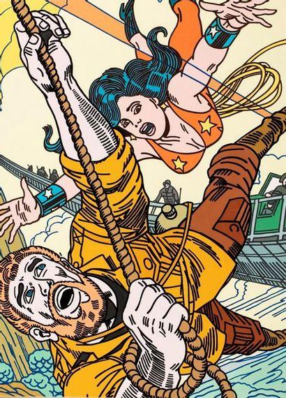 ERRO, né en 1932  Wonderwoman, 1989  peinture...