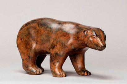 CHENET Pierre, XXIe siècle  Ours  bronze...