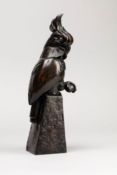 CONRAD Charles, 1912-?  Cacatoès  bronze...