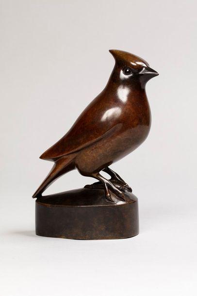 GALOYER François, né en 1944  Pic vert  bronze...