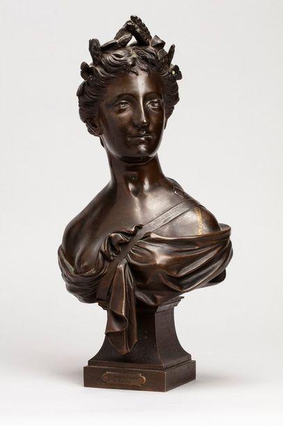 GAUTHERIN Jean, 1840-1890  Buste de Cérès...