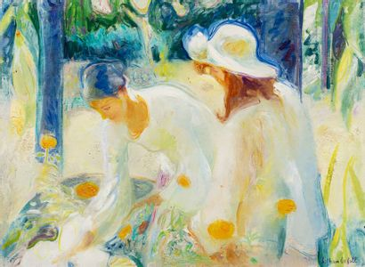 BOFILL Beltran, 1934-2009 La préparation du bouquet huile sur toile signée en bas...
