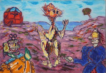 NAKACHE Armand, 1894-1976  Trois figures...