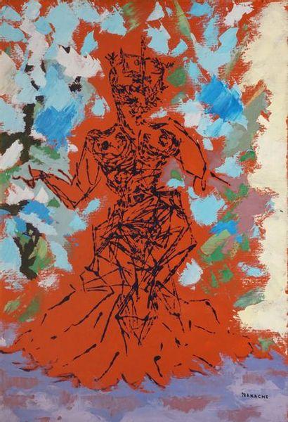 NAKACHE Armand, 1894-1976  Étude pour Bélise...