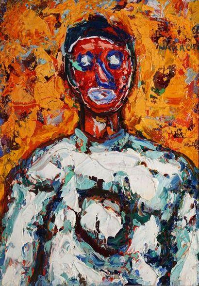 NAKACHE Armand, 1894-1976  Pierrot au masque...