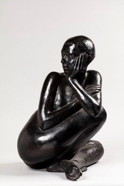 NAUDET Françoise, 1928-2008  Plénitude  bronze...