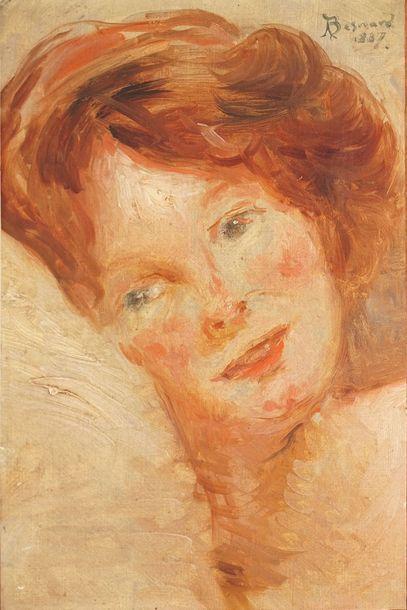 BESNARD Albert, 1849-1934  Tête de jeune...
