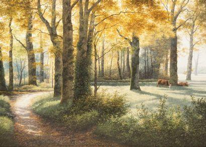 TRAPEZAROFF Michel, né en 1947  Chemin dans...