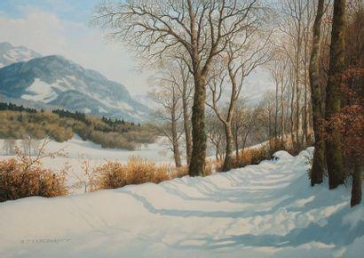 TRAPEZAROFF Michel, né en 1947  Paysage de...