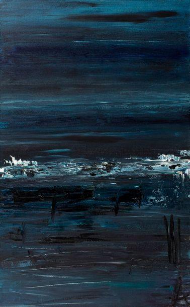 ALAUX Laurence, née en 1965  Émeraude, 2009  peinture sur toile  monogramme en bas...