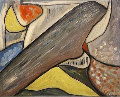 AYBAR Angelo, né en 1947  Théorie, 1992  huile sur toile  signée et datée en bas...
