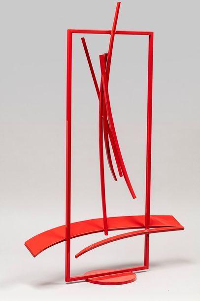 MALTIER Dominique, né en 1954  Espace rouge, 2017  sculpture en métal soudé à peinture...