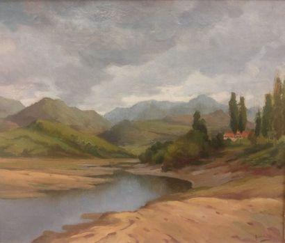 GODCHAUX, début XXe siècle  Bord de fleuve...