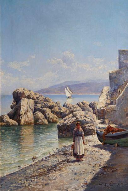JERICHAU Holger, 1861-1900  Bord de mer à...