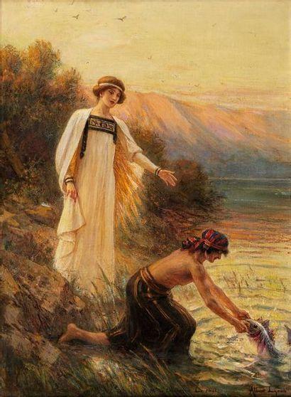 LYNCH Albert, 1851-1936  La légende de Tobie  huile sur toile (usures et restaurations)...